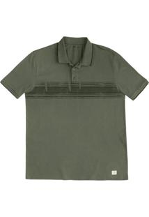 Camisa Polo Masculina Regular Em Malha De Algodão