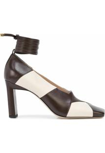 Wandler Sapato Bico Quadrado Isa - Marrom