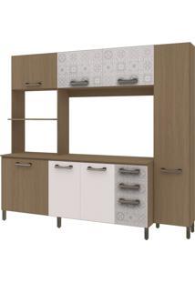 Cozinha Compacta Kappesberg Sense, 7 Portas, 3 Gavetas - E780