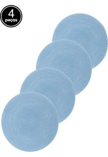 Kit Jogo Americano 4 Pçs Lyor Olímpia Azul 38Cm
