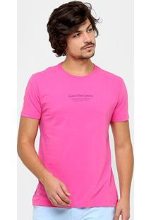 Camiseta Calvin Klein Nyc Masculina - Masculino-Rosa