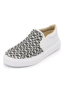 Sapatênis Feminino Top Franca Shoes Iate Branco