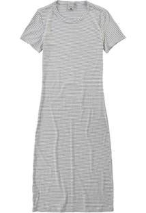 Vestido Branco De Viscose Canelada