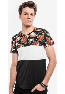 Camiseta Recorte Floral 103151