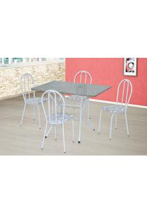 Conjunto De Mesa Para Sala De Jantar Artefamol Bruna Com 4 Cadeiras.