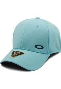 Boné Oakley Aba Curva Silicon Ellipse Comet Lxl - Masculino-Azul Claro