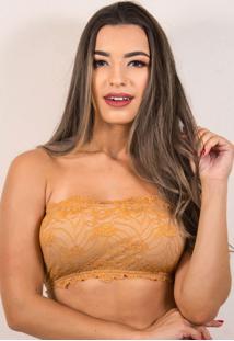 Sutiã Bella Fiore Modas Tomara Que Caia Top Renda Bege