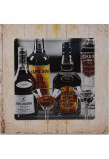 Quadro Decorativo Decorglass 27X27 Madeira