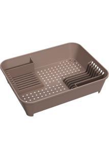 Escorredor De Louça Para Cozinha Basic Cinza Escuro Brinox