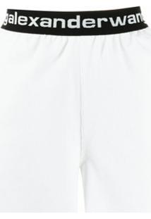 Alexanderwang.T Bermuda De Veludo Cotelê Com Cós Elástico - Branco