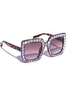 Kanui. Óculos De Sol Vicky Bijou Strass 5c0c19a3cca