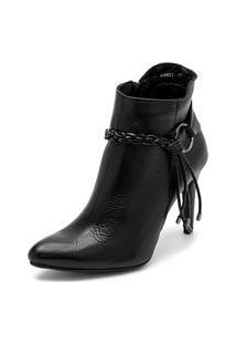 Bota Sandalo Feminina Clave De Fa Elis Black