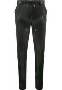 Versace Calça De Alfaiataria Risca De Giz - Preto