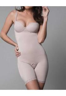 Body Modelador Com Perna Em Renda Lucitex Shapewear (4752) Cetinete Power