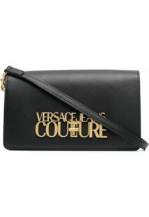 Versace Jeans Couture Logo-Plaque Shoulder Bag - Preto