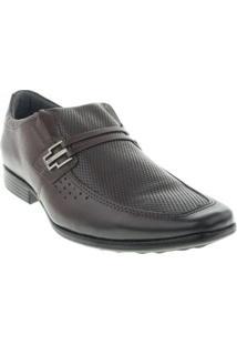 Sapato Social Pegada Masculino - Masculino-Marrom Escuro