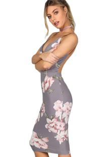 Vestido Tubinho De Festa Floral