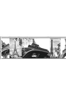 Papel De Parede Torre Eiffel Preto E Branco Allegra Vinílico 17Cm X 5M Muresco