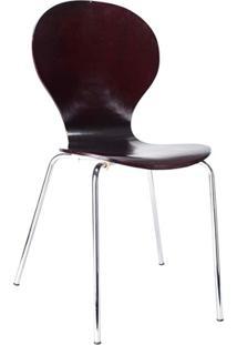 Cadeira Em Madeira Shell 47X51Cm Wengue