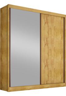 Guarda-Roupa Solteiro Com Espelho 2 Portas Virtus-Novo Horizonte - Freijo Dourado