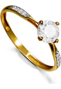 Aliança Em Ouro Com Diamante E Ouro Branco - As1663 + As1664