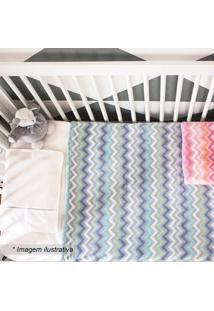 Cobertor Baby Zig Zag- Azul Claro & Azul Escuro- 90Xcamesa