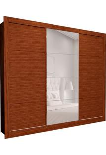 Guarda-Roupa Casal Com 1 Espelho Helena 3 Pt 6 Gv Marrom 242 Cm
