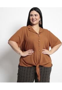 Camisa Texturizada- Marrom Claro- Pianetapianeta