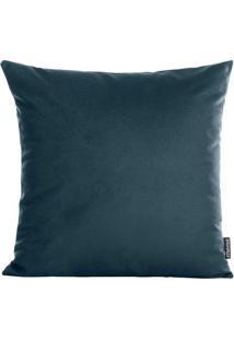 Capa Para Almofada Aveludada Velvet- Azul Escuro- 42Stm Home