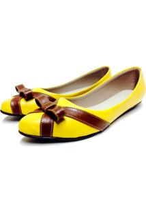 Sapatilha Comfort Bfprime Bico Fino Amarelo