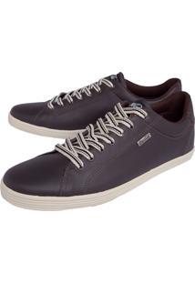 Tênis Coca Cola Shoes Pespontos Marrom