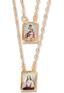 Escapulario Le Diamond Sagrada Familia Dourado - Dourado - Feminino - Dafiti