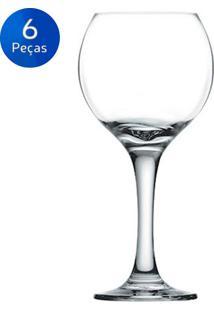 Jogo De Taças Para Vinho Tinto 300Ml Celebra 6 Peças - Nadir - Transparente
