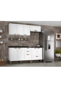 Cozinha Compacta Nevada Vi 8 Pt 4 Gv Branca E Grafite