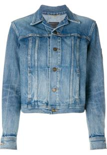 Saint Laurent Jaqueta Jeans 'Original Ysl Military' - Azul