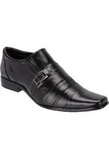 Sapato Social Masculino Couro Detalhe Costuras Leoppé - Masculino