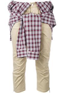 Dsquared2 Calça Com Camisa Amarrada Na Cintura - Neutro
