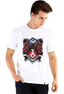 Camiseta Ouroboros Manga Curta Old School - Masculino-Branco
