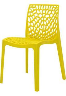 Cadeira Gruver Em Polipropileno Cor Amarelo - 44964 - Sun House