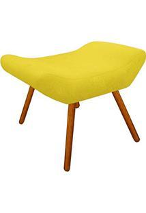 Puff Decorativo Aline Retangular Suede Amarelo - D'Rossi