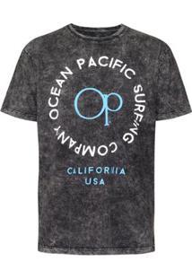 Camiseta Ocean Pacific Surfboards Quality Masculina - Masculino-Preto