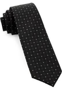 Gravata Slim Black Squares - Spc82