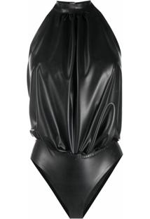 Saint Laurent Body Frente Única Com Transpasse - Preto