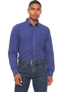 Camisa Timberland Linen Colors Azul
