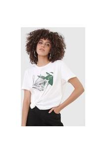 Camiseta Forum Folhagem Off-White