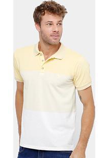 Camisa Polo Reserva Piquet Degradê Mesclado Masculina - Masculino
