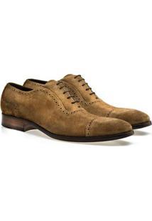 Sapato Social Brogan Eccellenza Lucca Masculino - Masculino-Marrom Claro