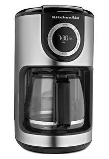 Cafeteira Elétrica Kitchenaid Automática Kxa12 110V - Prata