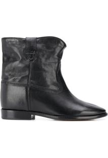 Isabel Marant Crisi Concealed-Wedge Ankle Boots - Preto