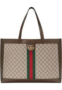 Gucci Bolsa Tote Ophidia Gg - Marrom